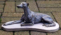 A Whippet statue in stoneware
